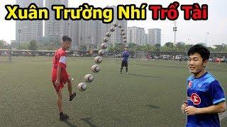 Thử Thách Bóng Đá sút bóng trúng đích với Lương Xuân Trường Nhí - football challenge U23 Việt Nam