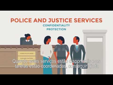Serviços essenciais para mulheres e meninas que sofrem violência