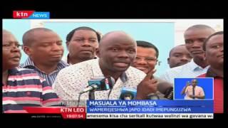 KTN Leo: Magavana Ali Hassan Joho na Amason Kingi warudishiwa walinzi