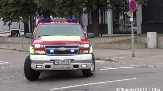 preview picture of video 'FW Ulm mit ELW & VRW als Chevrolet (erstmalig gefilmt YT)'