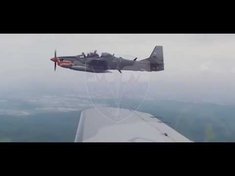 Indonesian Air Force Embraer EMB 314 Super Tucano A 29 Turboprop Light Attack Aircraft