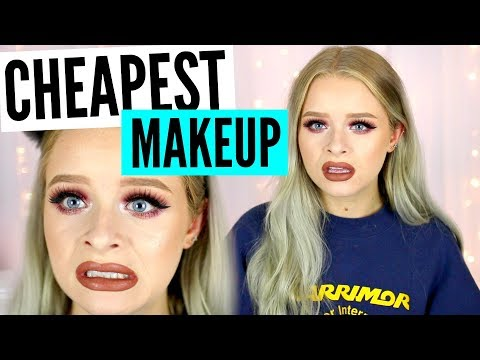 FULL FACE USING MY CHEAPEST MAKEUP!! | sophdoesnails
