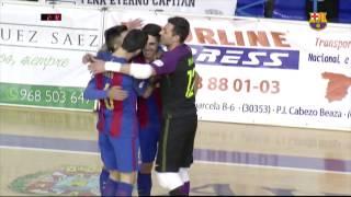 [HIGHLIGHTS] FUTSAL (LNFS): Cartagena - FC Barcelona Lassa (1-3)