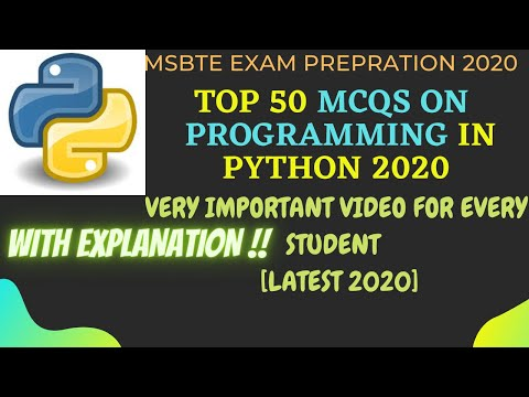 Top 50 Programming in Python MCQs | Most Important Conceptual ...