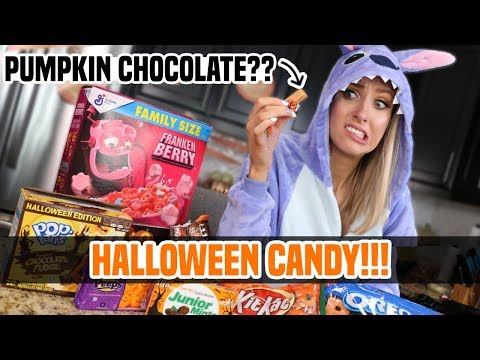 TRYING ALL THE HALLOWEEN CANDY!!