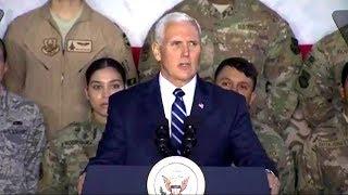 VP Mike Pence in Jordan. VP Mike Pence remarks to troops in Jordan. Jan 21, 2018.