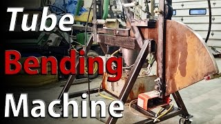 Hydraulic tube bending machine - shop built - How to BEND square metal tubing