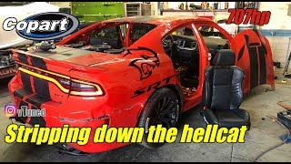 Rebuilding my wrecked charger hellcat part 1