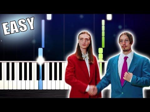 Y2K, bbno$ - Lalala - EASY Piano Tutorial by PlutaX