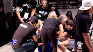 Attitude MMA 2 - Rachel Wray (former NFL Cheerleader)  vs Jamie Clinton