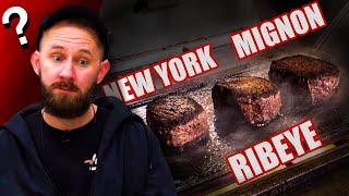 New York vs. Filet Mignon vs. Ribeye! | Which Expensive Steak Is The Best?!