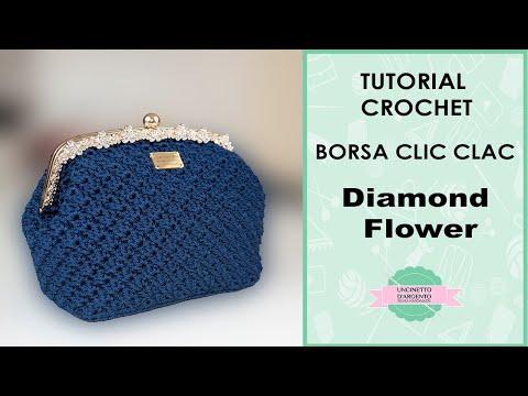 Tutorial Pochette Clic Clac Diamond Flower Punto Fantasia