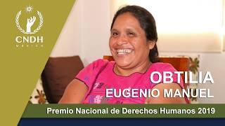 Entregan Premio Nacional de Derechos Humanos a Obtilia Eugenio Manuel