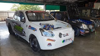 พาทัวร์อู่ใหม่ พี่เอ้ ปลาทู ดูรถแข่งตัวแรง ทั้งรุ่น 1.9 และ F55 Pro ดีกรีแชมป์ : รถซิ่งไทยแลนด์