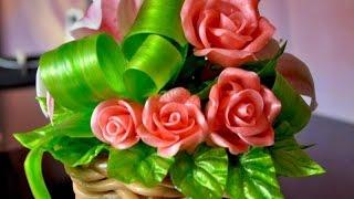 Как делают цветы и скульптыры из карамели