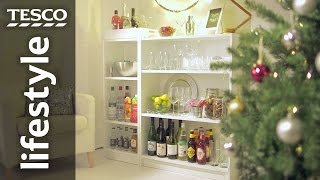 How to make a home bar using bookshelves