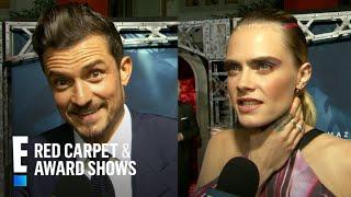 "Cara Delevingne & Orlando Bloom Describe ""Carnival Row"" in 3 Words | E! Red Carpet & Award Shows"