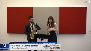 DUO J. ROSEL & A.C. BRAND play Inflexion by O. Adamek #adolphesax