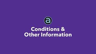Condiciones y otra información