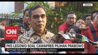 PKS Legowo Soal Cawapres Pilihan Prabowo