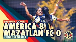 Resumen y goles | Femenil | América 8-0 Mazatlán FC | Jornada 8 | GUARD1ANES 2020