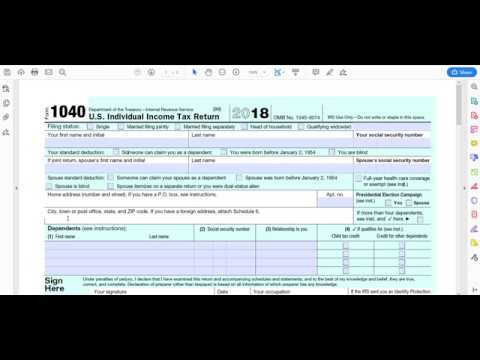 Download How To Fill Out Irs Form 1040 For 2018 Video 3GP Mp4 FLV HD