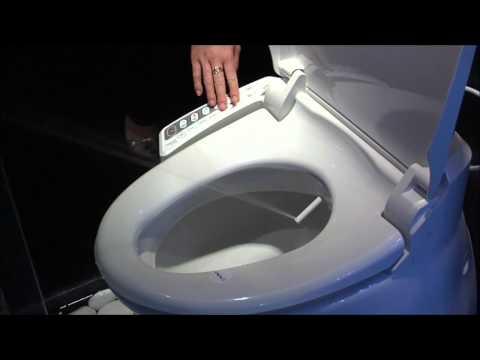 Sedile wc bidet in funzione / Bidet toilet seat operating