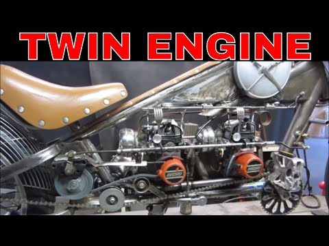 Steampunk Moped 1st Run,