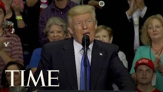 Trump Talks About Being More Presidential Than Any President & Health Care At Ohio Rally | TIME