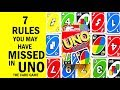 7 Rules You May Have Missed In UNO The Card Game - How To Play Correctly