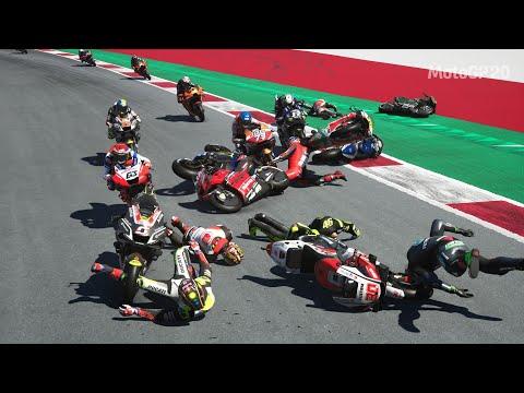 MotoGP 20 Mega Crash Compilation (20 Min) 13,000 Subscribers Special!