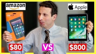 $80 Tablet vs $800 Tablet Review (Amazon Fire Tablet VS iPad Pro) - dooclip.me