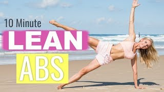 Lean Abs Workout - 10 MINUTE FLAT BELLY | Rebecca Louise by Rebecca-Louise