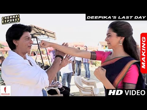 Deepika's Last Day on the Sets of Chennai Express with Shah Rukh Khan & Rohit Shetty - Version 1