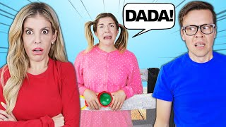 """I BECOME A """"BABY"""" FOR THE DAY!! Matt and Rebecca Funny Reaction"""