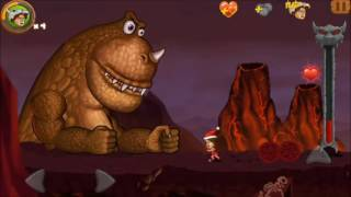 Jungle Adventures 2: STORY - World 5 Level 5...DINO BOSS ...XMAS... Gameplay (Free Game On Android)