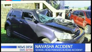 NAIVASHA ACCIDENT: School head perishes in road accident after vehicle slams into stalled truck