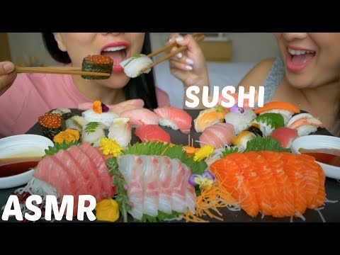 ASMR SUSHI (JAPAN) *NO TALKING Eating Sounds | N.E Let's Eat