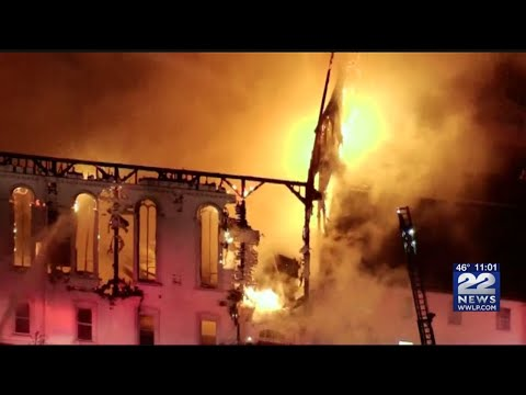 Multiple Departments Respond To 7 Alarm Fire At Historic Wakefield Church