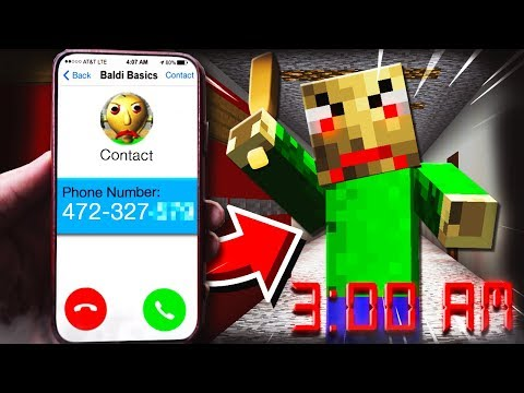 HOW TO CALL BALDI BASIC'S in Minecraft at 3:00AM **REAL**