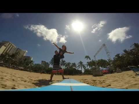 Gift Surf School – Hawaii  –  Tandem Surfing