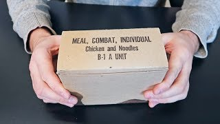 1969 C Ration B-1A Unit US MRE (Meal Ready to Eat)