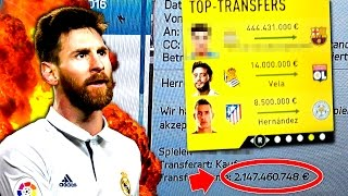 OMFG DIE TEUERSTEN FIFA TRANSFERS EVER !!! 😱 - HEFTIGSTEN FIFA 17 KARRIERE MOMENTE BUGS FAILS