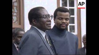 SOUTH AFRICA: PRESIDENT MANDELA MEETS WITH AFRICAN LEADERS
