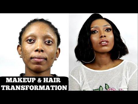 AMAZING MAKEUP AND HAIR TRANSFORMATION | KLAIYI HAIR