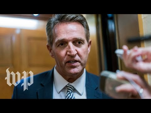 Jeff Flake makes a speech on Senate floor