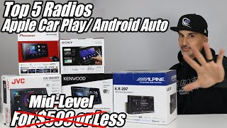The 5 Best Car Stereo Head units/ Radios with Apple Car Play & Android Auto for under $599