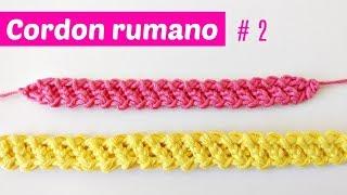 Cordon rumano crochet # 2