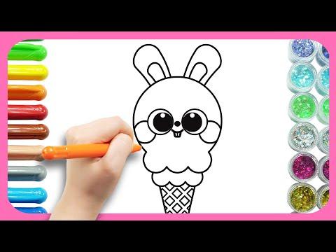 , title : '아이스크림 그리기   귀염뽀짝 토끼 아이스크림 그리기   티디 그리기 놀이   티디키즈★지니키즈'
