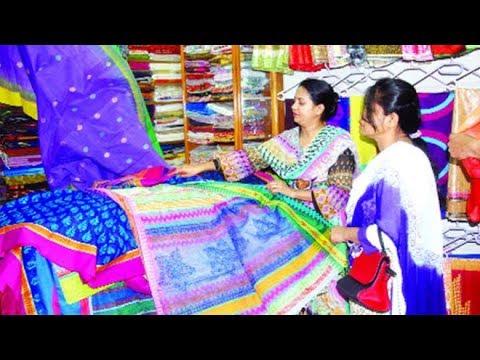 টাঙ্গাইলের বিখ্যাত তাঁতের শাড়ি। হস্তচালিত তাঁতের শাড়ি | Tangail Shari